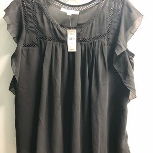 NWT Loft Grey Blouse Size Small Beautiful!